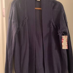 blue brand new sweater